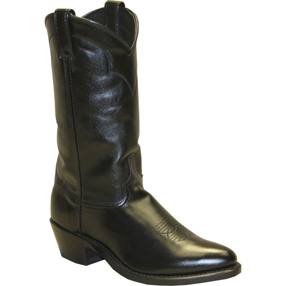 Image for Abilene Men's Narrow Round Toe Cowhide Western Boots - Black from bootbay