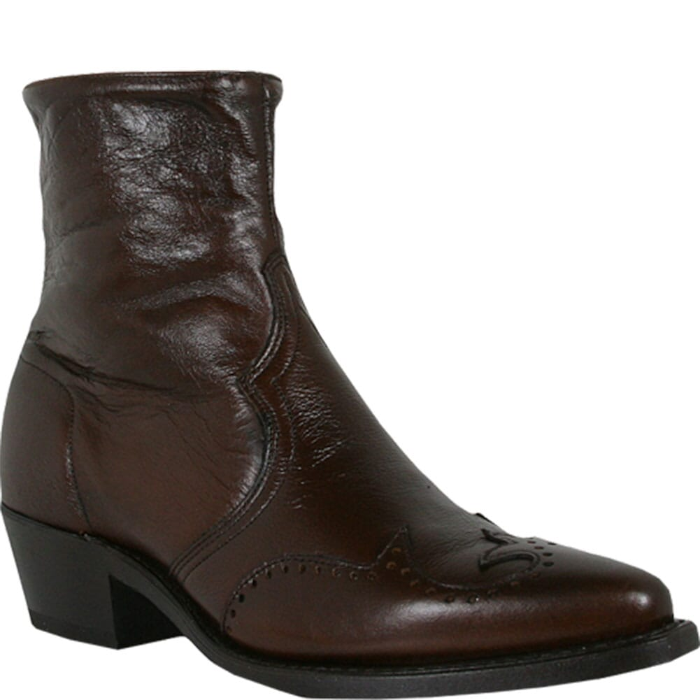 Image for Abilene Men's Wingtip Western Boots - Antiqued Brown from bootbay