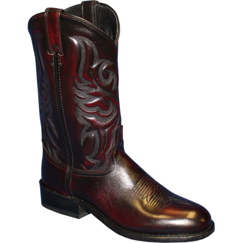 Image for Abilene Men's Cowhide Western Ropers - Black Cherry from bootbay