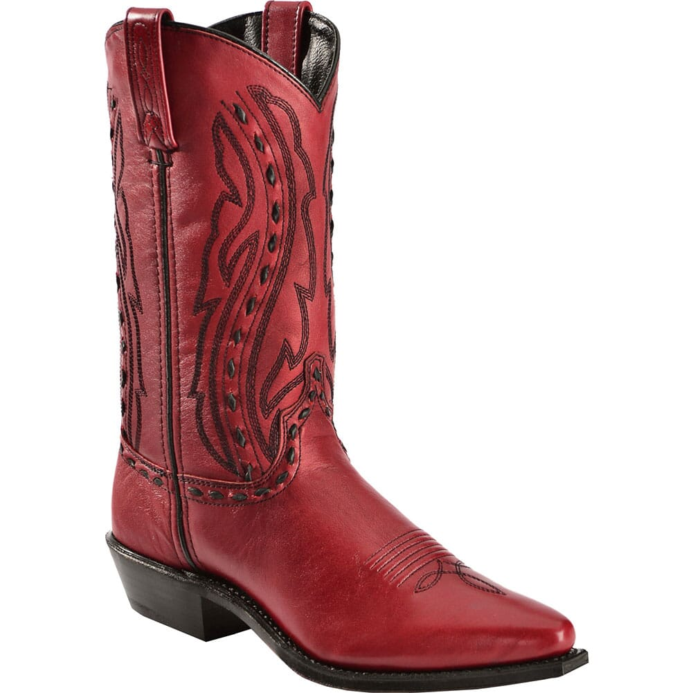 Image for Abilene Women's Garment Cowhide Western Boots - Red from bootbay