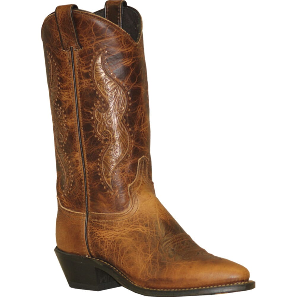 Image for Abilene Women's Tooled Inlay Western Boots - Antiqued Brown from bootbay