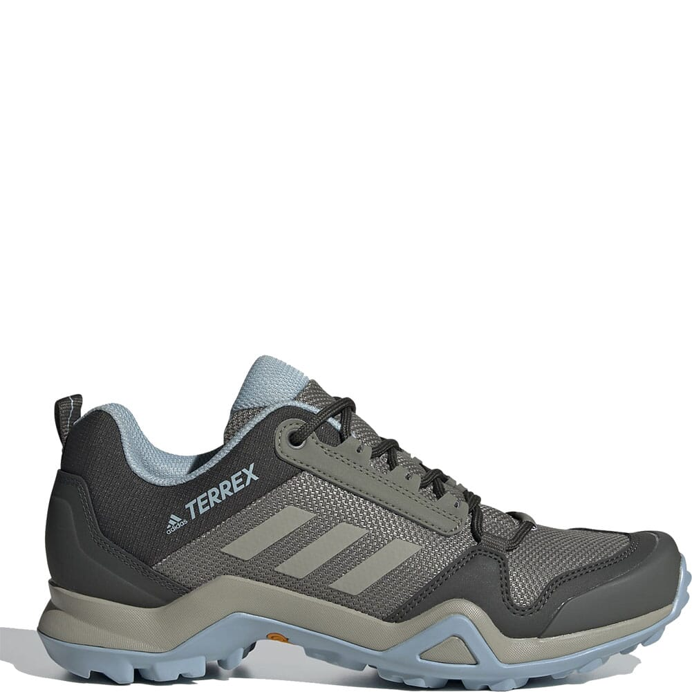 Image for Adidas Women's Terrex AX3 Hiking Shoes - Legacy Green/Feather Grey from bootbay