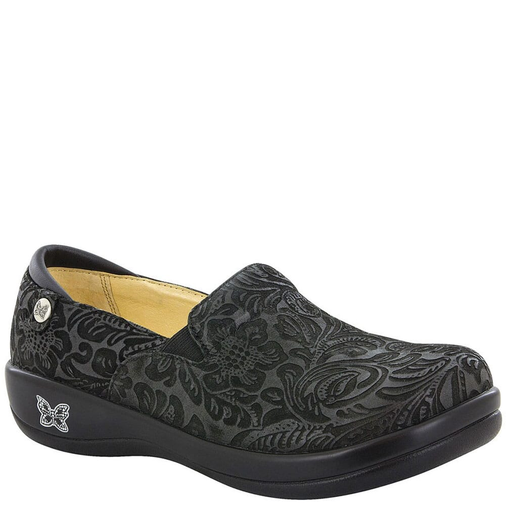 Image for Alegria Women's Keli Paisley Casual Clogs - Black Emboss from bootbay