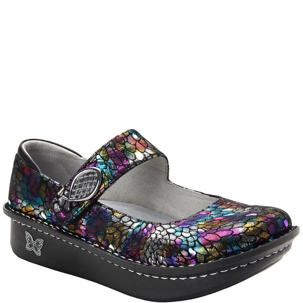 Image for Alegria Women's Paloma Mary Jane Casual Shoes - Minnow Rainbow from bootbay