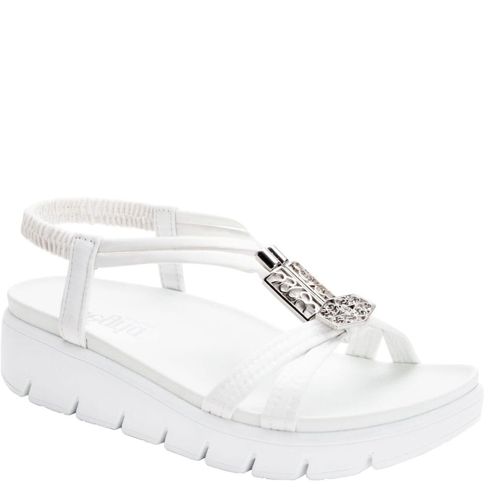 Image for Alegria Women's Roz Vegan Strappy Sandals - White from bootbay