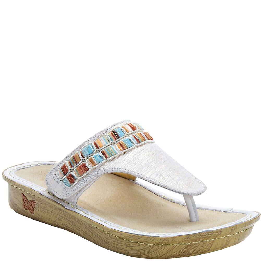 Image for Alegria Women's Vanessa Thong Sandals - Gold from elliottsboots