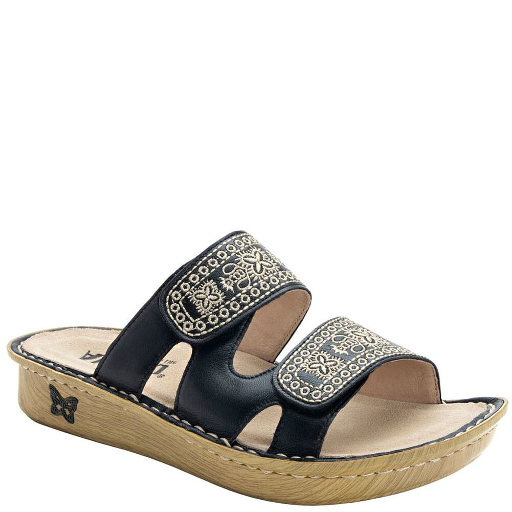 Image for Alegria Women's Violette Slip-On Sandals - Sew Cool Black from bootbay