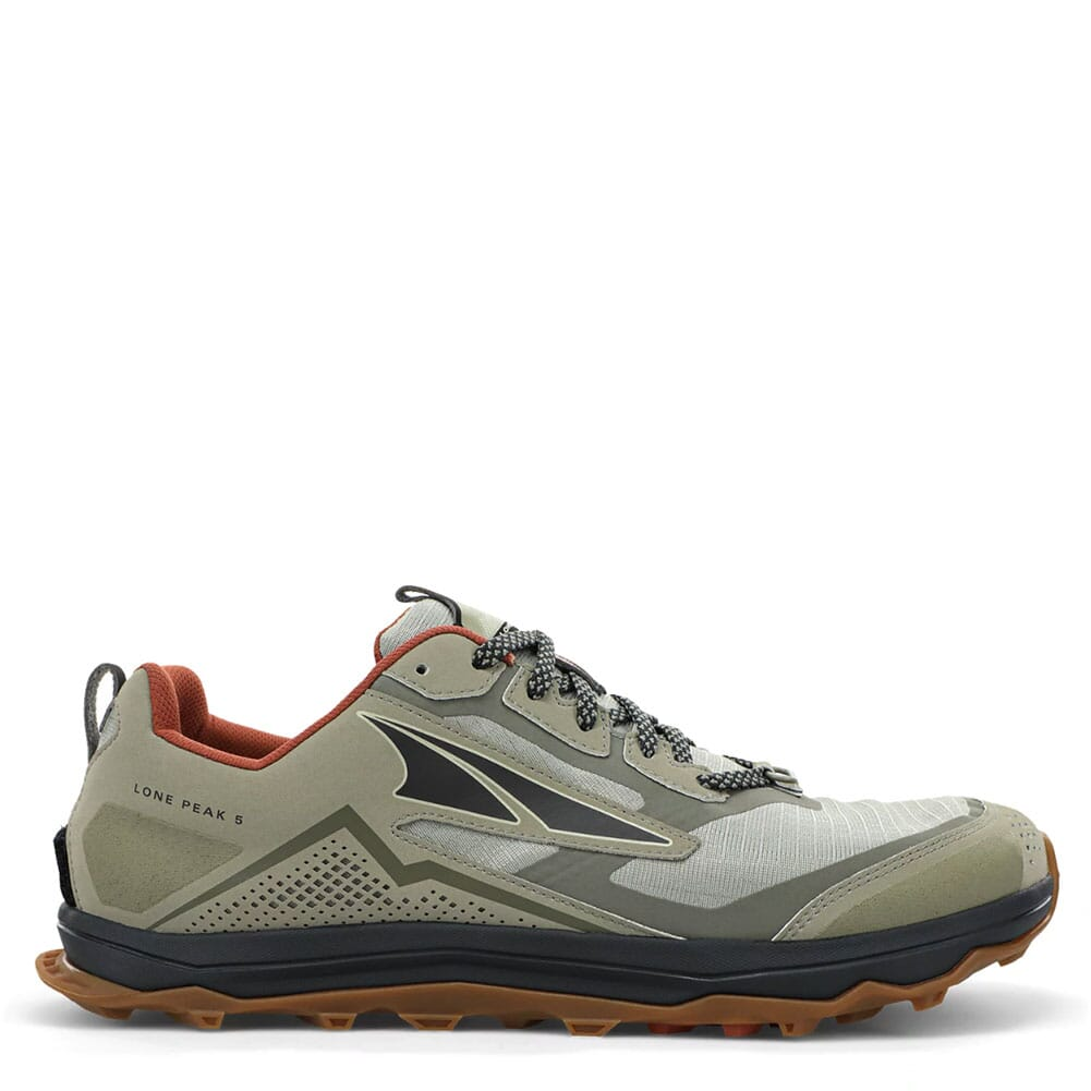Image for Altra Men's Lone Peak 5 Low Running Shoes - Khaki from elliottsboots