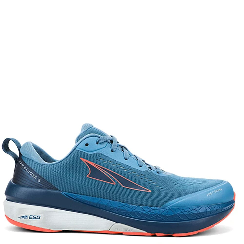 Image for Altra Women's Paradigm 5 Athletic Shoes - Blue/Coral from elliottsboots