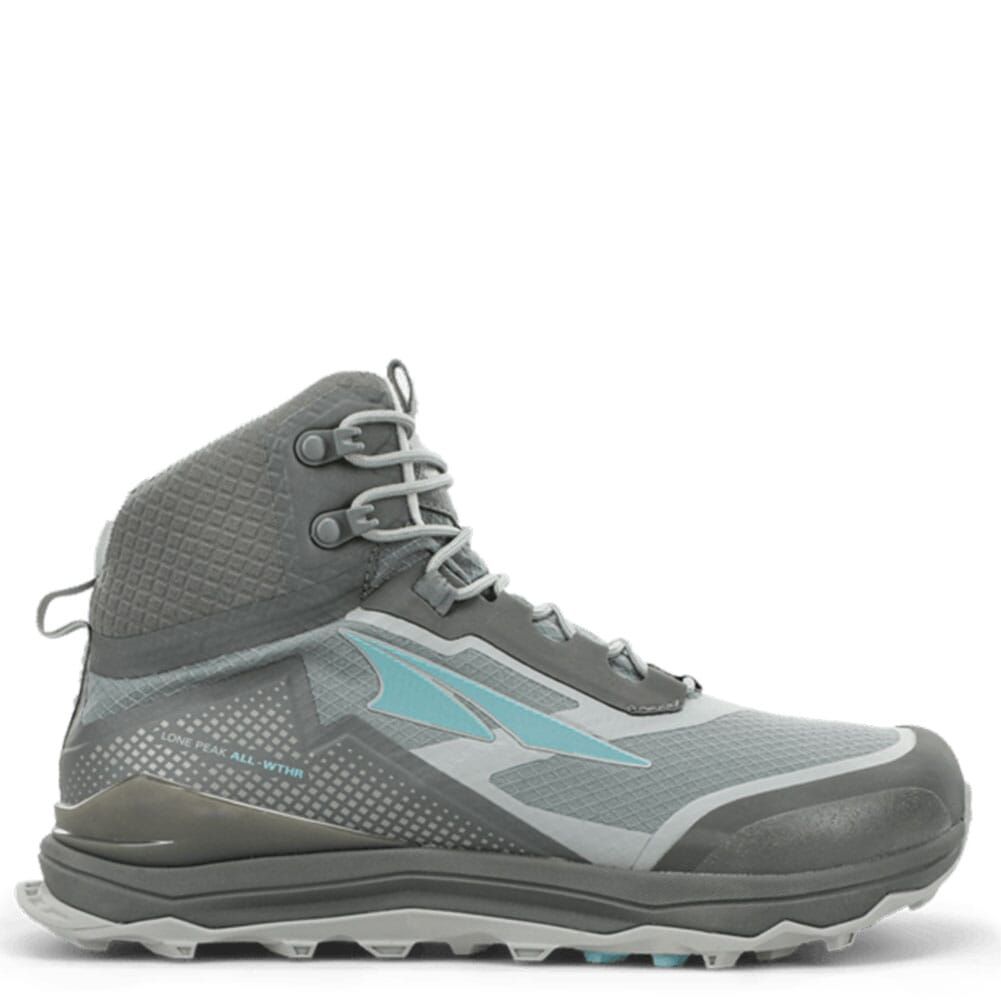 Image for Altra Women's Lone Peak ALL-WTHR Mid Boots - Gray/Green from elliottsboots