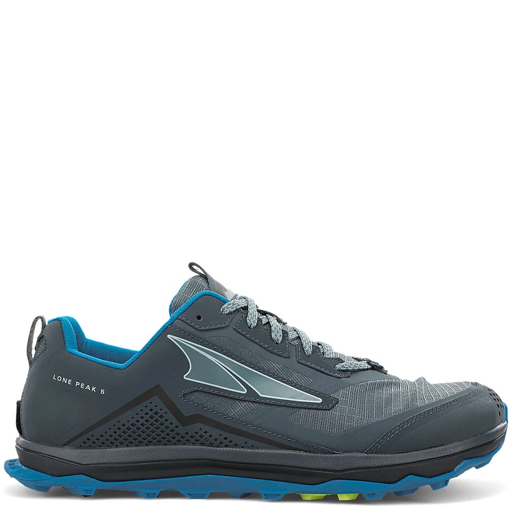 Image for Altra Men's Lone Peak 5 Wide Running Shoes - Blue/Lime from elliottsboots
