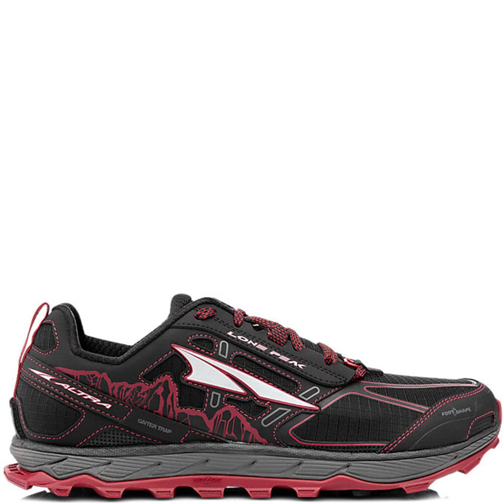 Image for Altra Men's Lone Peak 4 Low Running Shoes - Black/Red from bootbay