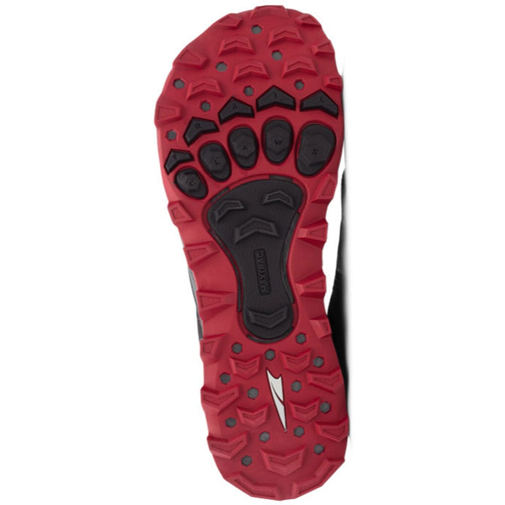Altra Men's Lone Peak 4 Low Running Shoes - Black/Red