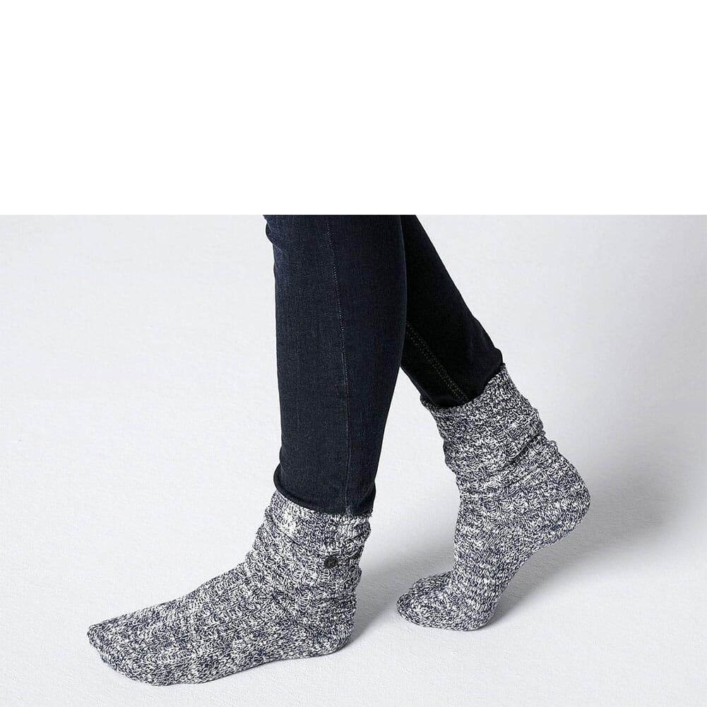 Birkenstock Women's Cotton Slub Sock - Blue/White