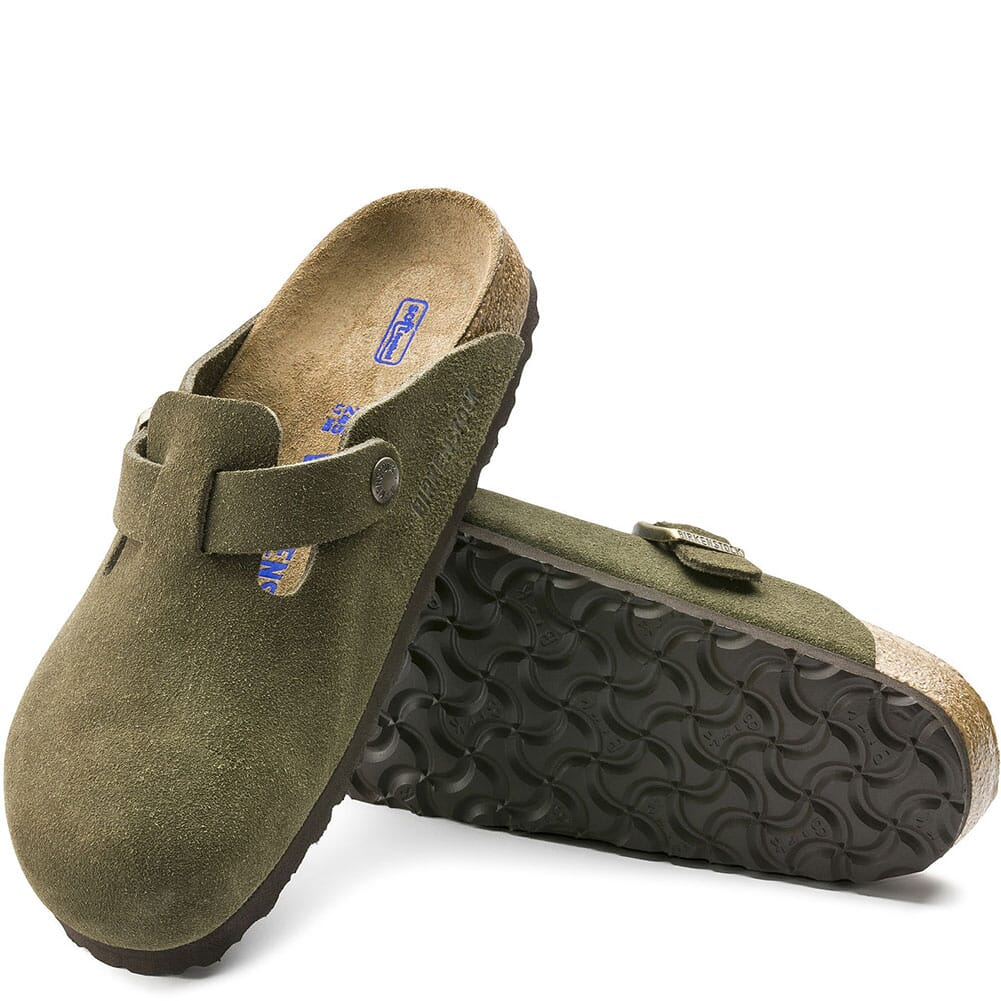 Birkenstock Unisex Boston Soft Casual Shoes - Forest
