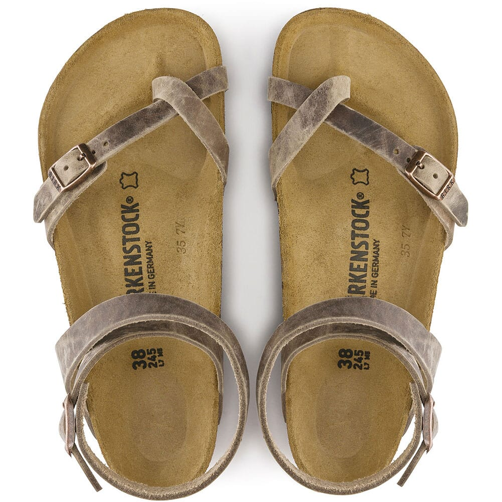 Birkenstock Women's Yara Oiled Leather Casual Shoes - Tobacco