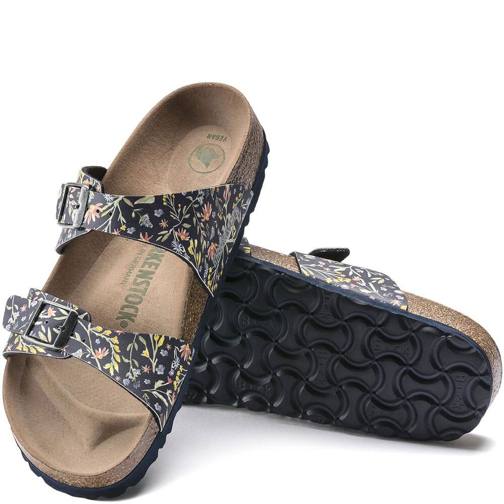 1018596 Birkenstock Women's Sydney Vegan Sandals - Watercolor Flower Navy