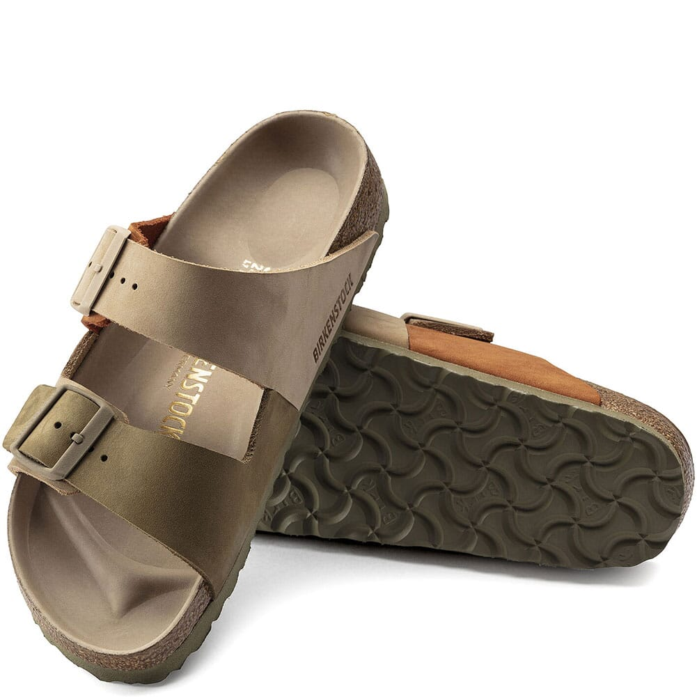 1019422 Birkenstock Women's Arizona Split Sandals - Sandcastle/Faded Khaki