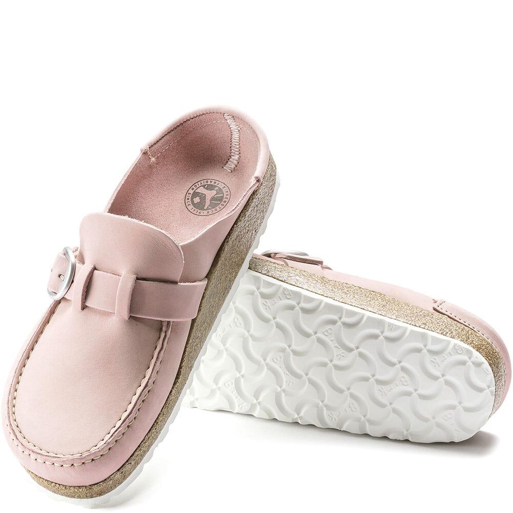 1019701 Birkenstock Women's Buckley Shearling Slip Ons - Embossed Soft Pink
