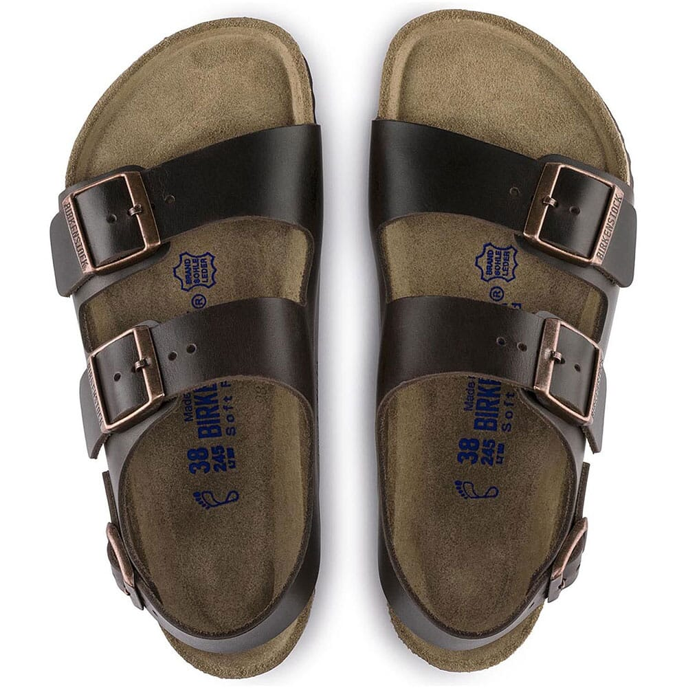 Birkenstock Unisex Milano Soft Footbed Sandals - Amalfi Brown