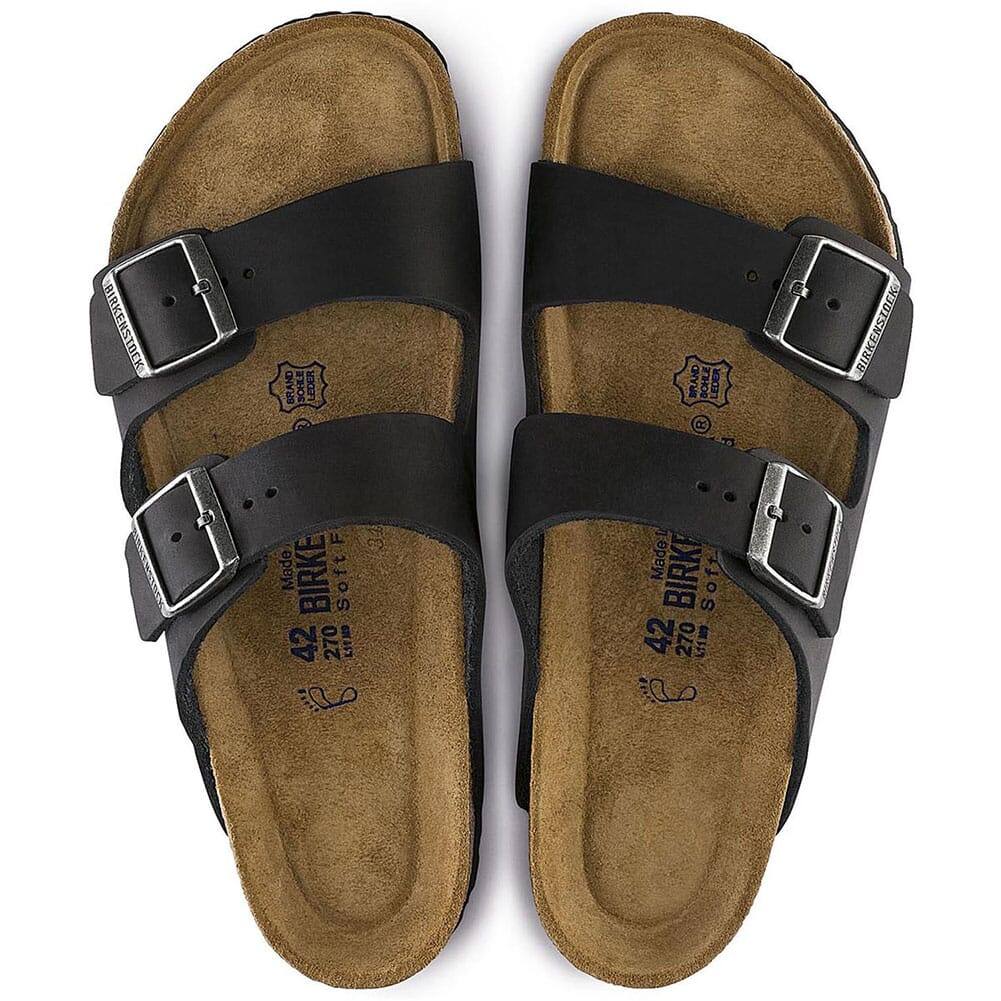 Birkenstock Unisex Arizona Soft Footbed Sandals - Black