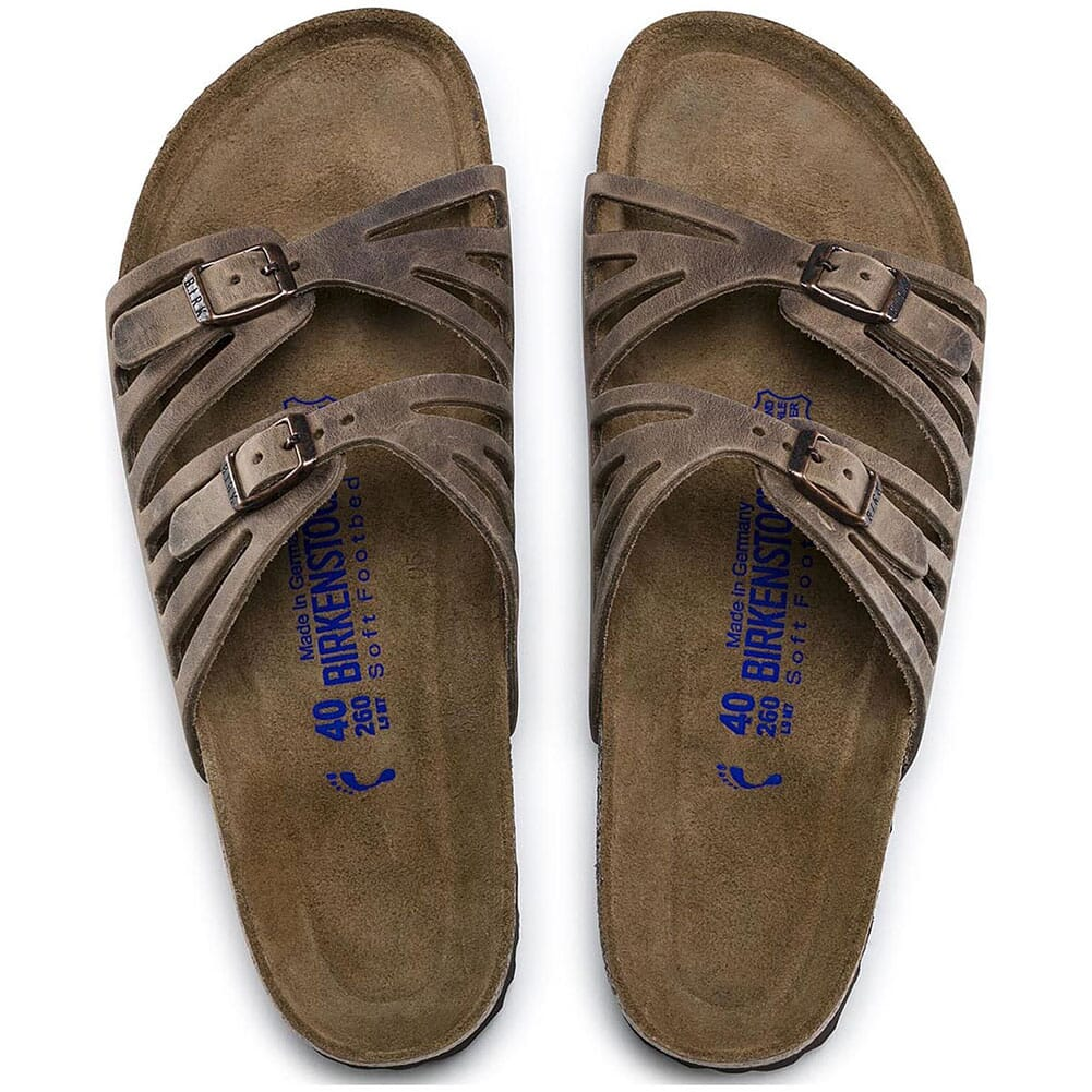 Birkenstock Women's Granada Soft Footbed Sandals - Tobacco Oiled