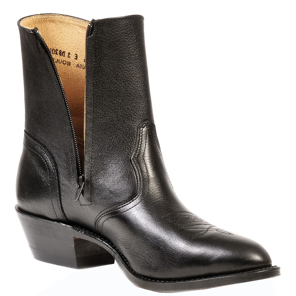 Boulet Men's Zip Western Dress Boots - Black Deer Tan