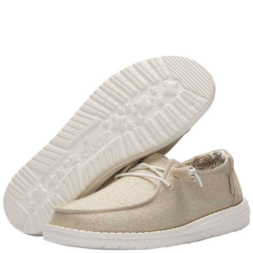 121410559 Hey Dude Women's Wendy Sparkling Casual Shoes - Beige