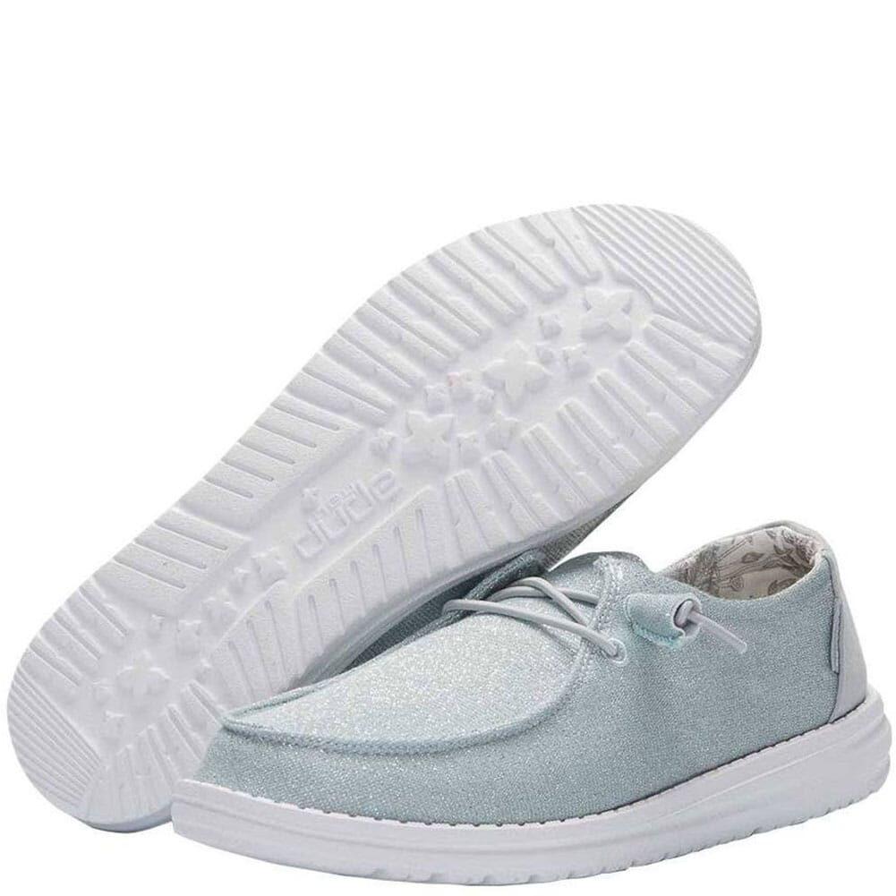 121412137 Hey Dude Women's Wendy Sparkling Casual Shoes - Blue