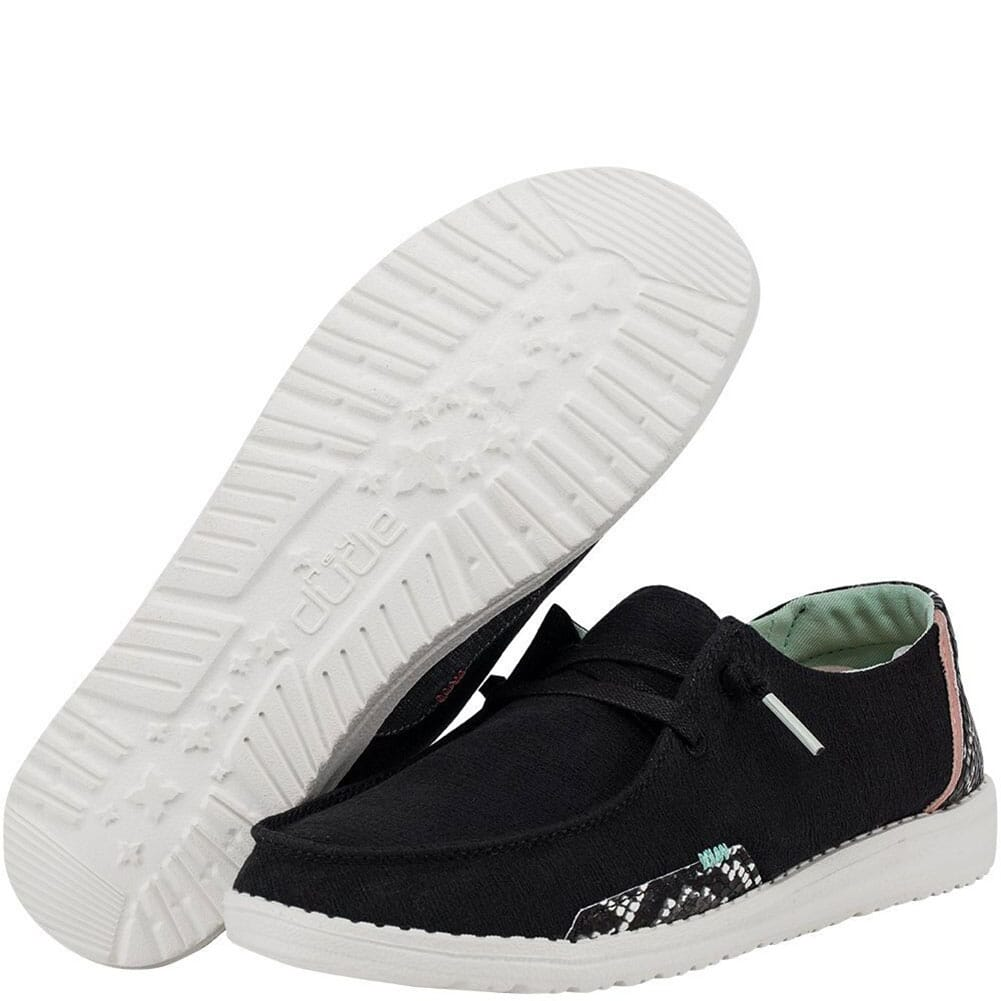 121414792 Hey Dude Women's Wendy Snake Casual Shoes - Black