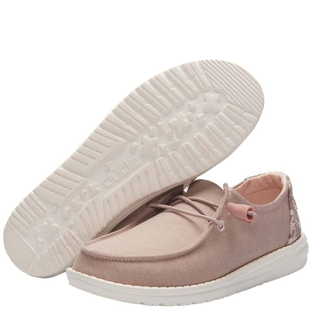 121415030 Hey Dudes Women's Wendy Stretch Fleece Casual Shoes - Sepia Rose