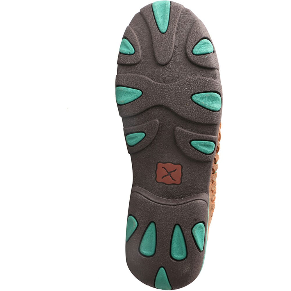 WDM0093 Twisted X Women's Original Chukka Driving Moc - Brown/Turquoise