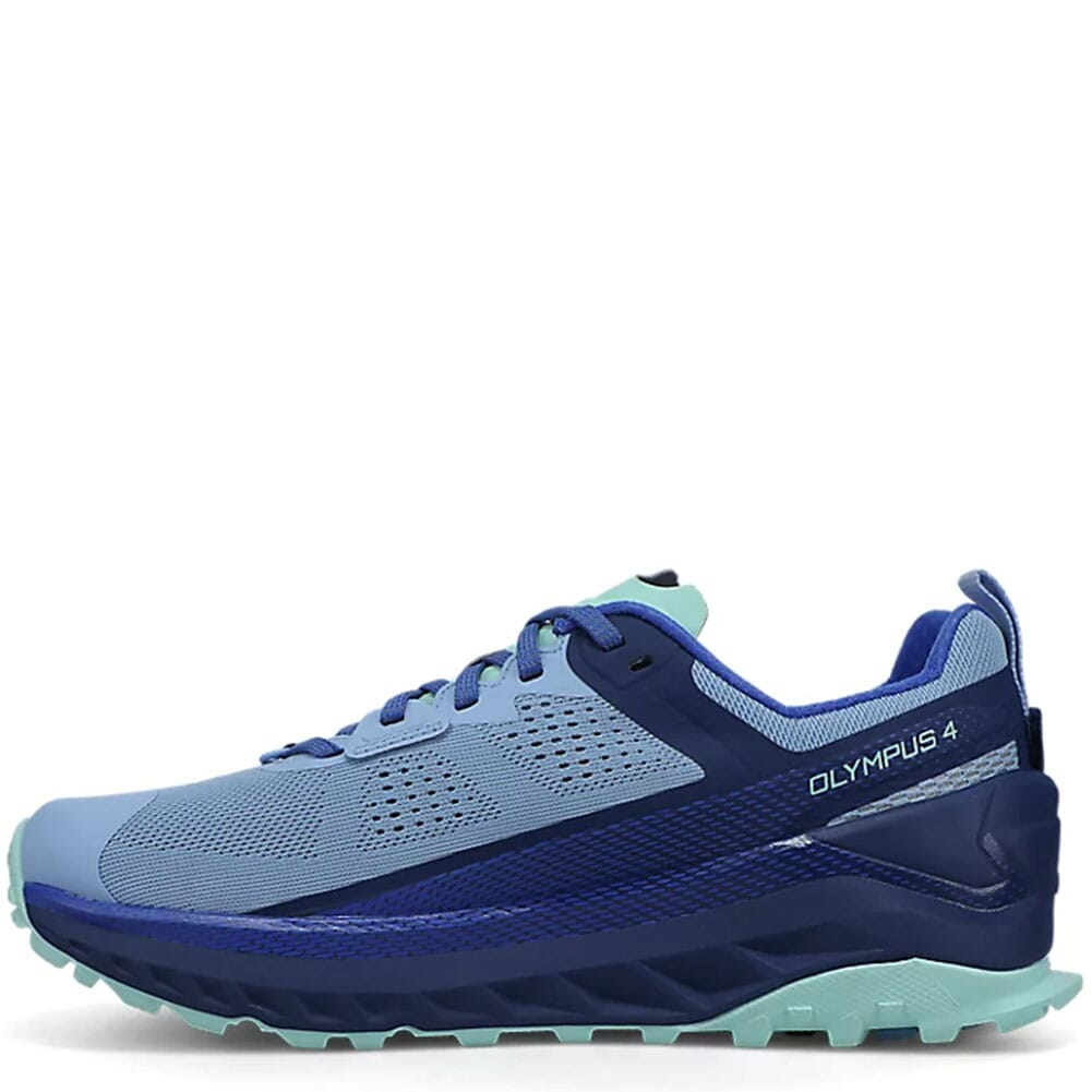 0A4VQW-446 Altra Women's Olympus 4 Running Shoes - Navy/Light Blue
