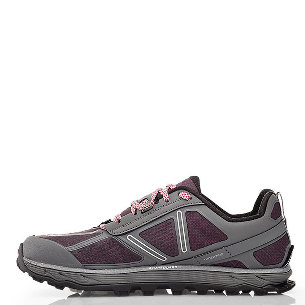 Altra Women's Lone Peak 4 Low Athletic Shoes - Grey/Rasp