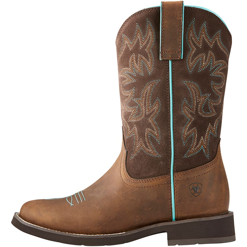 10021457 Ariat Women's Delilah Western Boots - Distressed Brown
