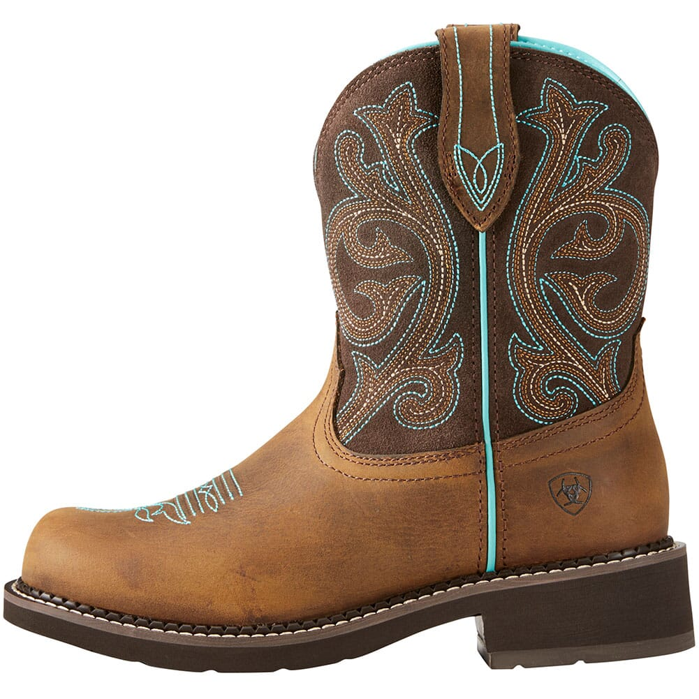 Ariat Women's Fatbaby Heritage Western Boots - Distressed Brown/Fudge
