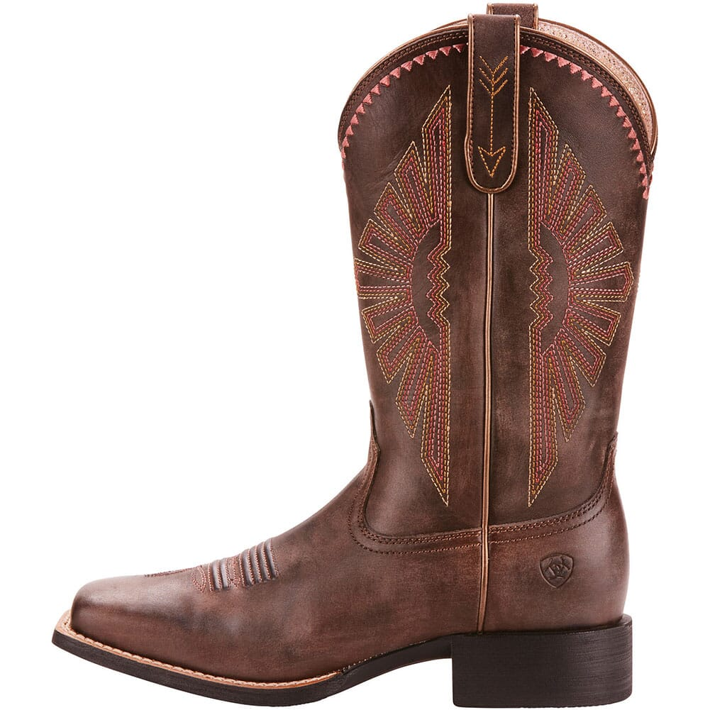 Ariat Women's Round Up Rio Western Boots - Distressed Brown
