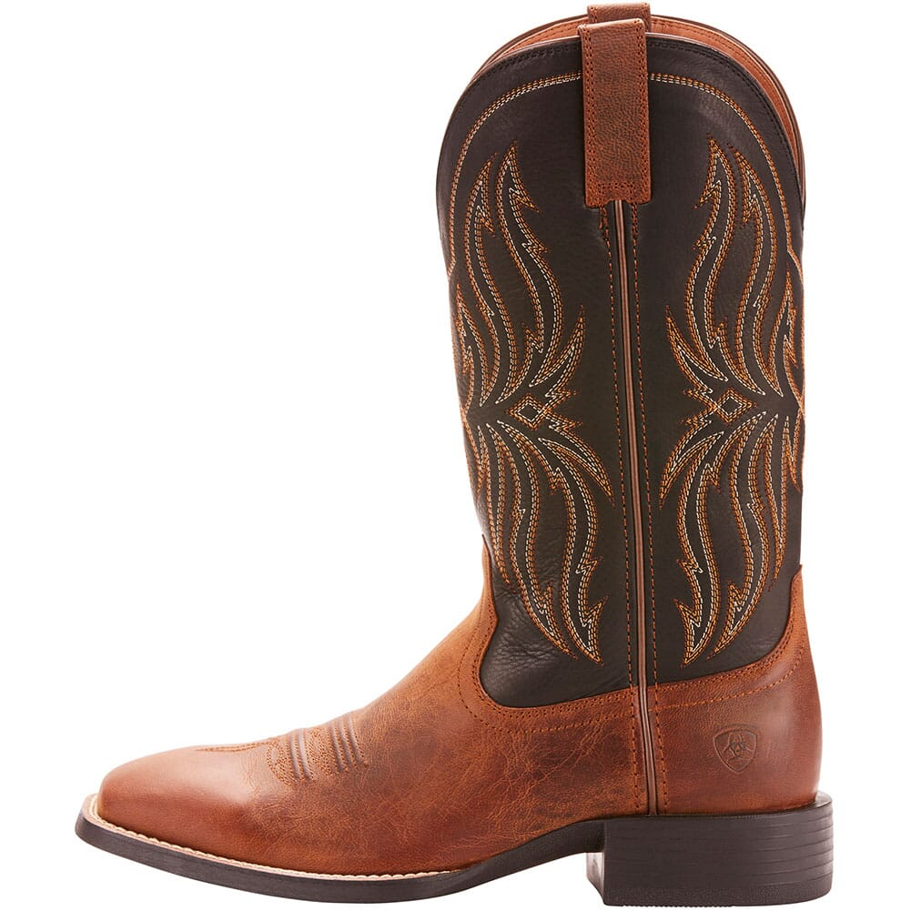 Ariat Men's Sport Rustler Western Boots - Brute Brown/Black