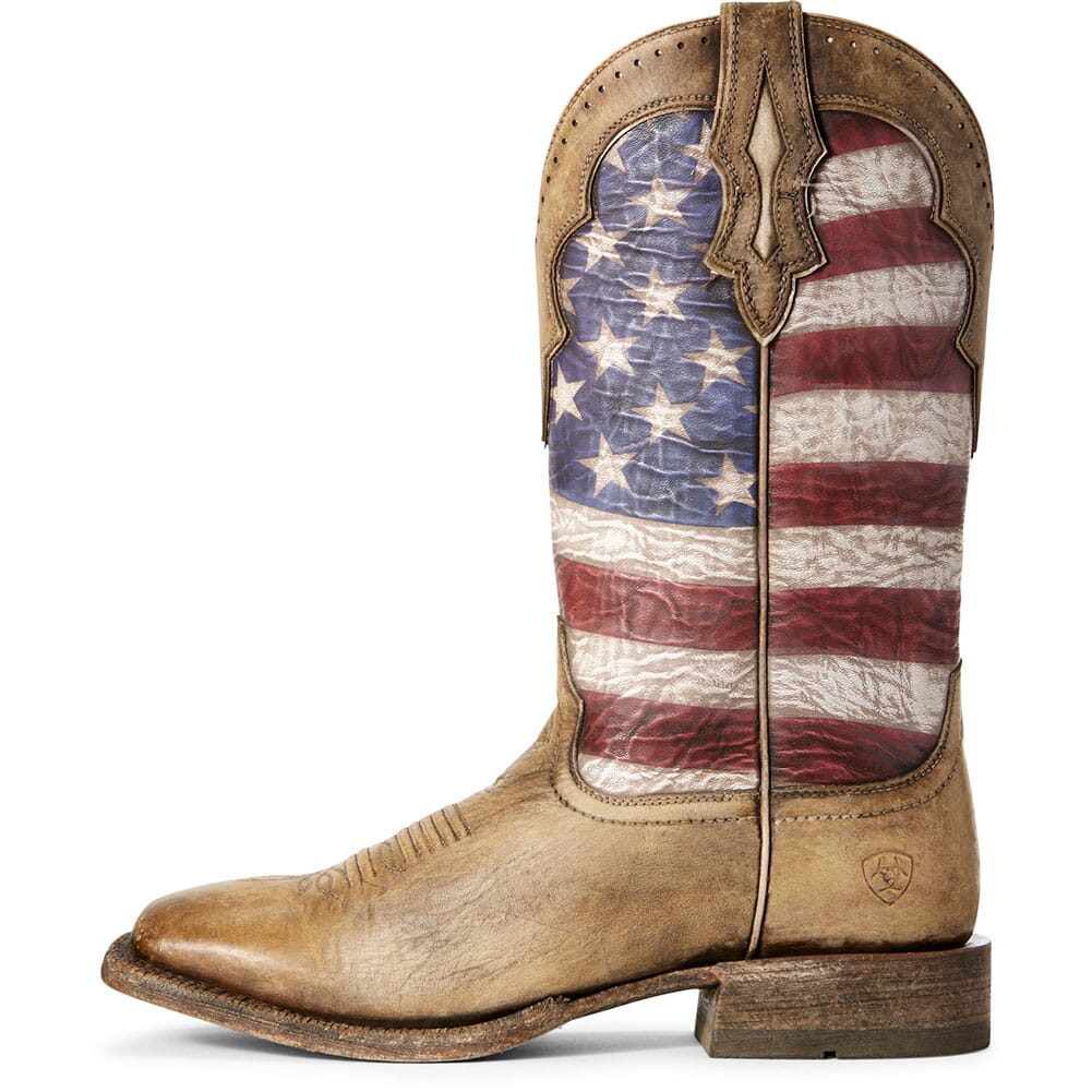 Ariat Men's Ranchero Western Boots - Stars and Stripes/Brown