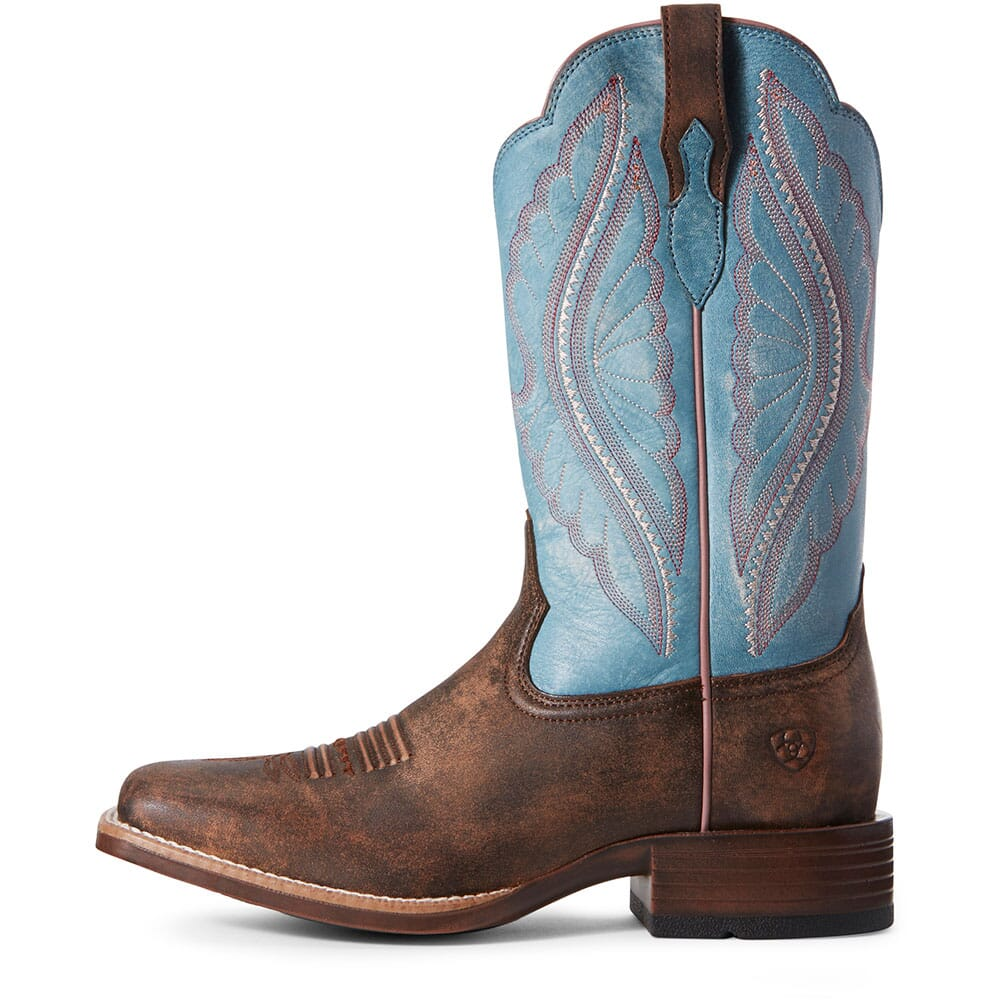 Ariat Women's Primetime Tack Western Boots - Chocolate/Blue