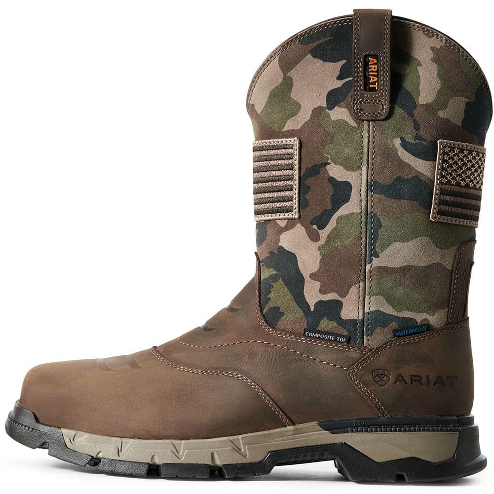 Ariat Men's Rebar Flex Patriot WP Safety Boots - Dark Brown