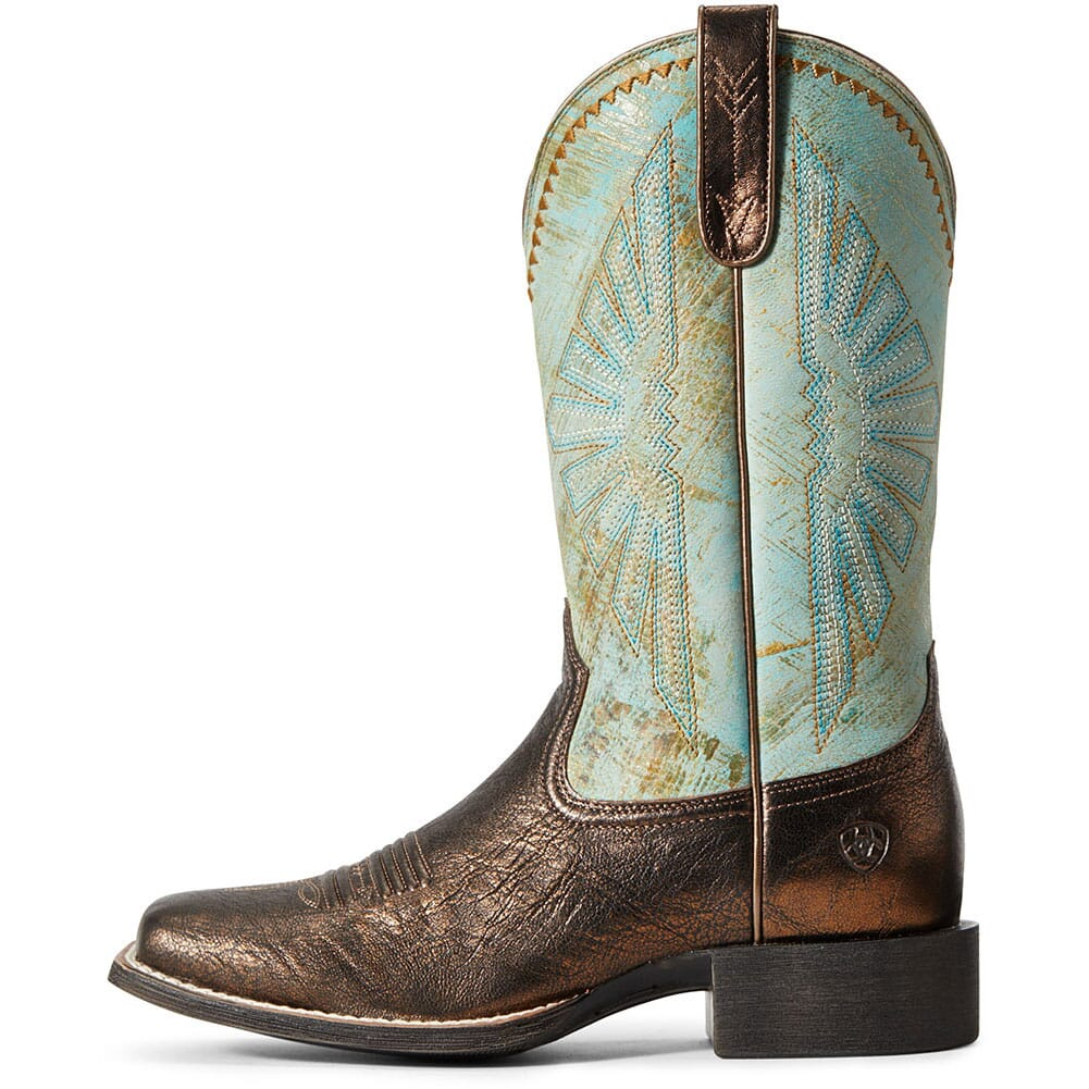 Ariat Women's Round Up Rio Western Boots - Dark Bronze