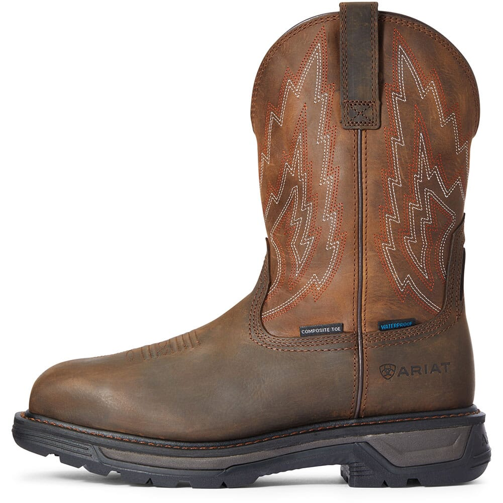 10033993 Ariat Men's Big Rig Waterproof Safety Boots - Dark Brown