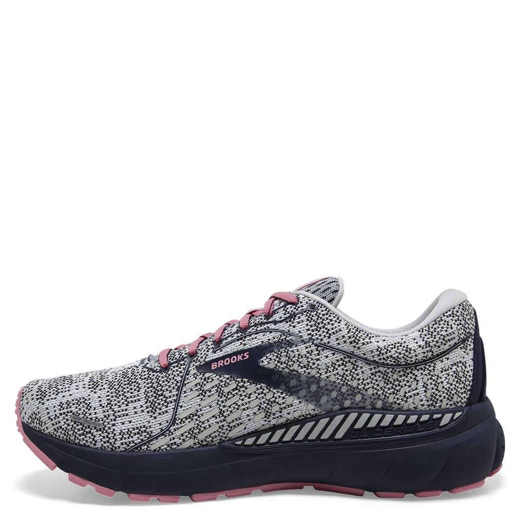 120329-149 Brooks Women's Adrenaline GTS 21 Running Shoes - White/Peacoat/Coral