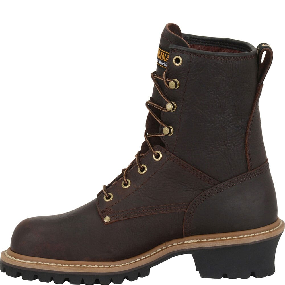 Carolina Women's EH Safety ST Loggers - Dark Brown