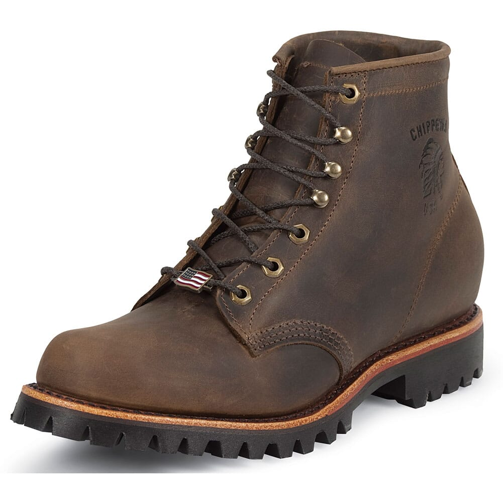 Chippewa Men's Rugged Safety Boots - Chocolate