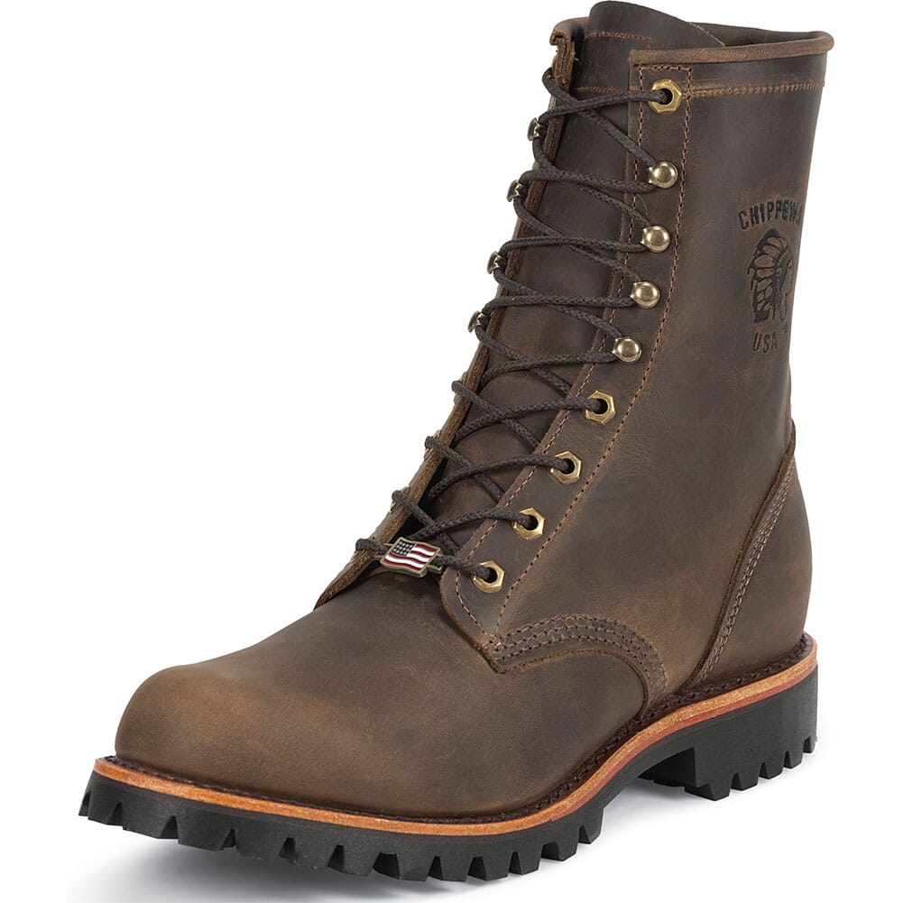 Chippewa Men's Safety Boots - Chocolate (ALL SALES FINAL)