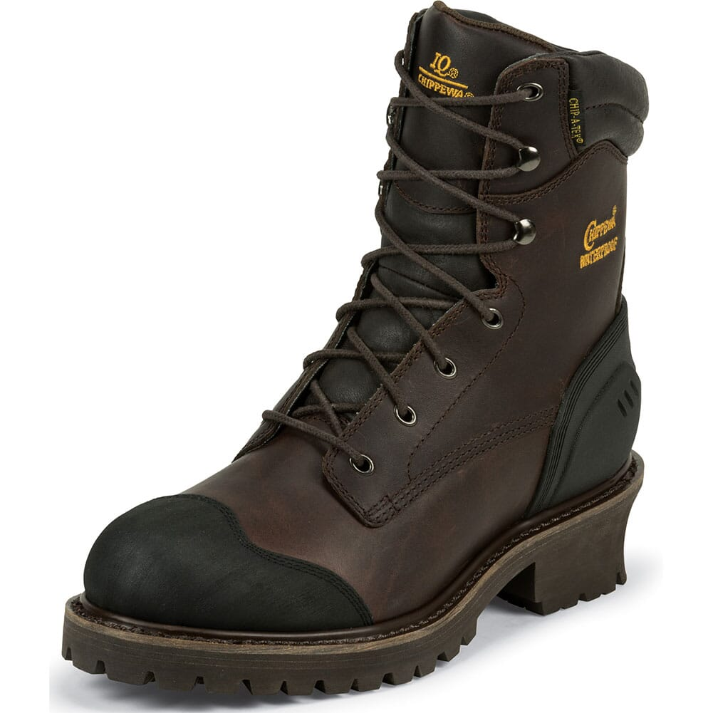 Chippewa Men's IQ INS 8IN Safety Loggers - Chocolate