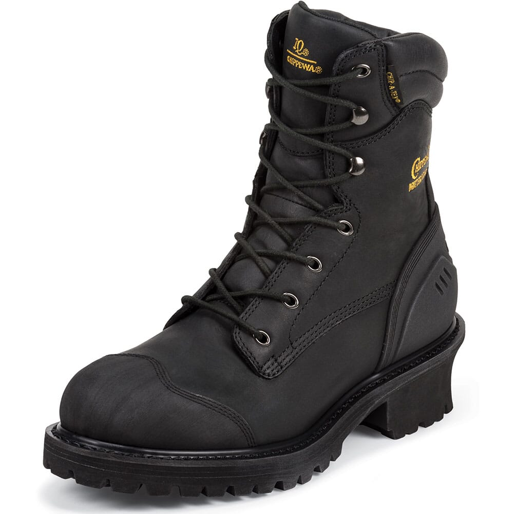 Chippewa Men's Safety Loggers - Black (ALL SALES FINAL)