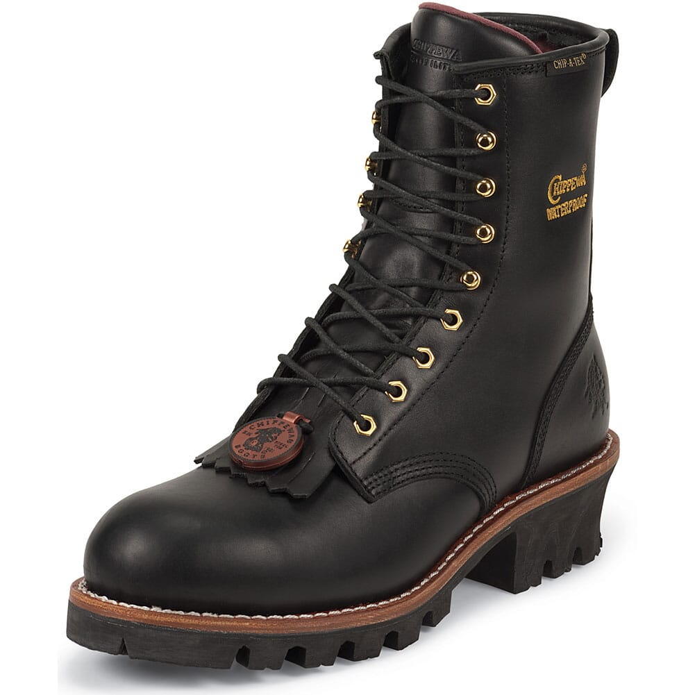 Chippewa Men's WP INS Steel Safety Loggers - Black